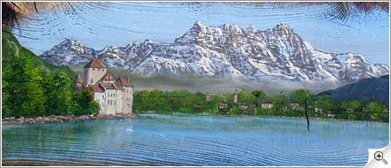 Chillon et les Dents du Midi