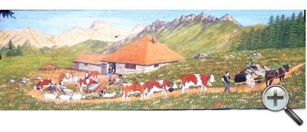 Poya à l'Etivaz (chalet de Clée)