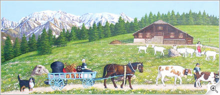 Poya avec Mont-Blanc et Cervin