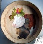 Portrait de vache dans un dietzet