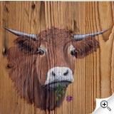 Vache au trèfle