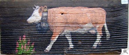 La vache et les épilobes