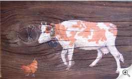 Vache et poule