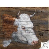 Vache sur planche