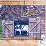 Vaches à l'étable