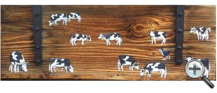 Vaches sur volet