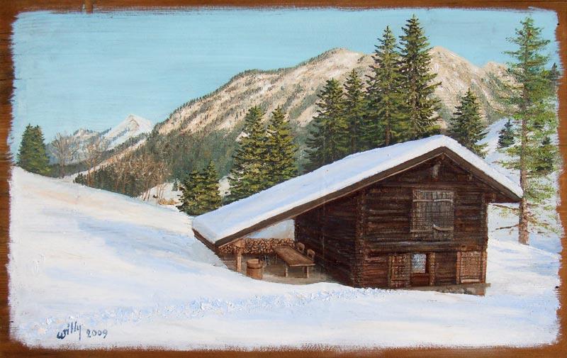 Peinture d'hiver