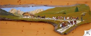 Poya suisse sur bois