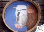Peinture tête de vache