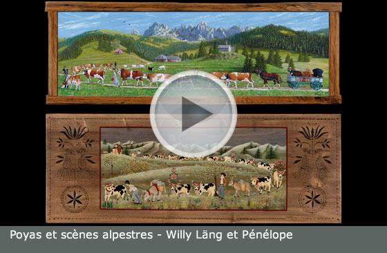 Poyas et scènes alpestres - Willy Läng et Pénélope